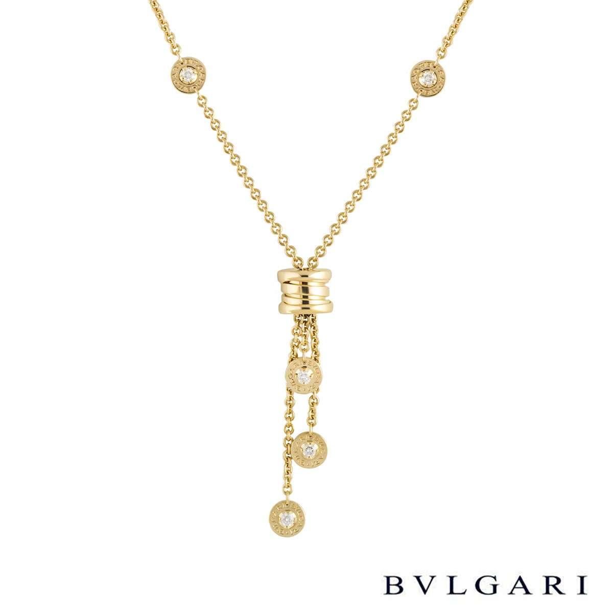 Bvlgari Yellow Gold Diamond B.Zero1 Necklace